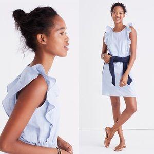 [Madewell] NWT Bellflower Ruffle Dress Cotton 12